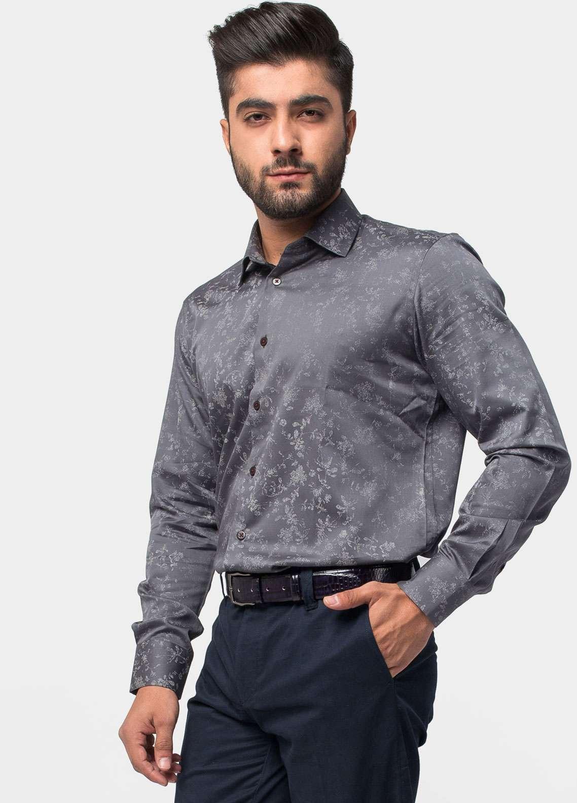 Brumano Cotton Formal Men Shirts - Grey BRM-765