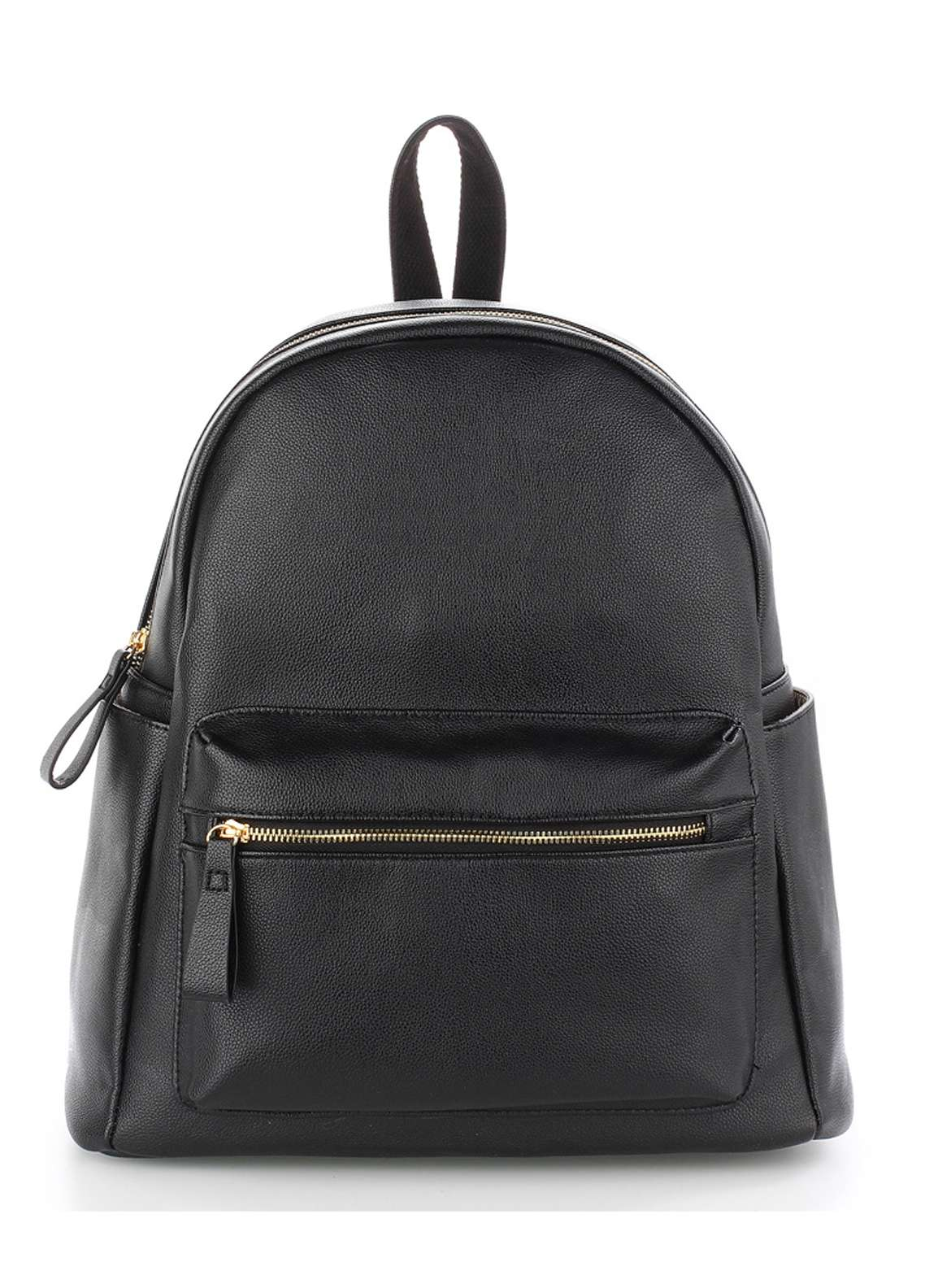 Leesun London Soft Faux Leather Backpack Bags  for Unisex  Black with Plain Texture