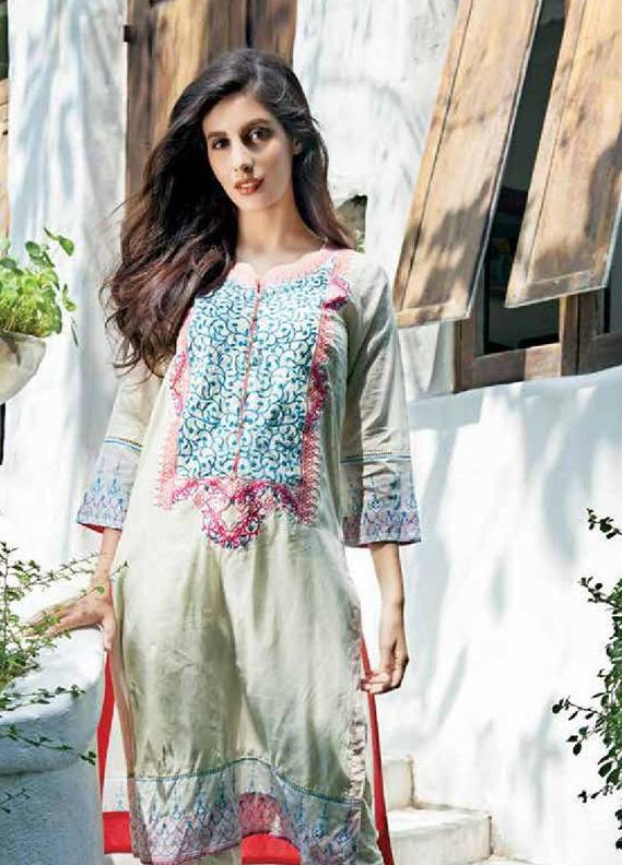 Zaneesha By Al Zohaib Embroidered Lawn Unstitched Kurtis AZN16S 9A