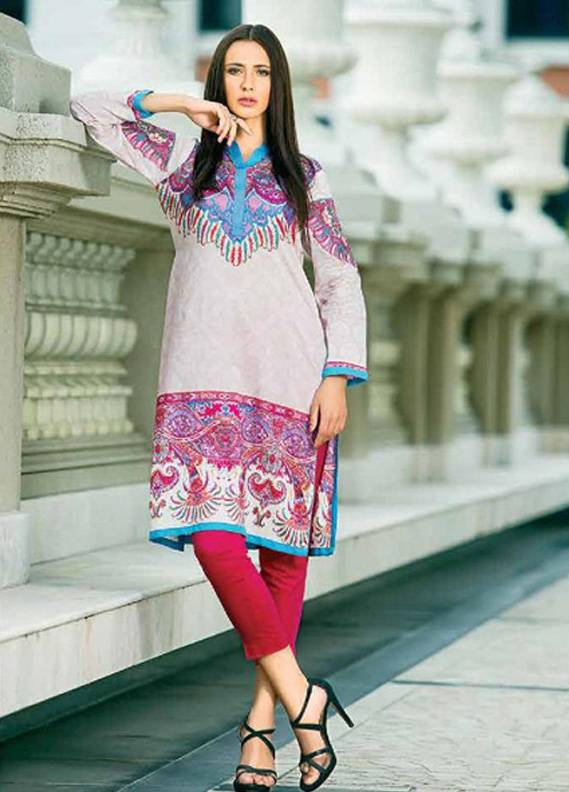Zaneesha By Al Zohaib Embroidered Lawn Unstitched Kurtis AZN16S 6A