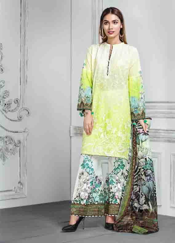 Resham Ghar Embroidered Lawn Unstitched 3 Piece Suit RG17E 07