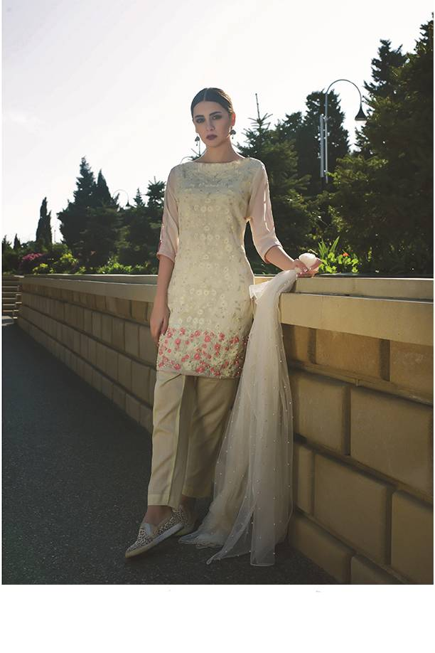 Areeba Saleem Embroidered Chiffon Unstitched 2 Piece Suit AS17C 12