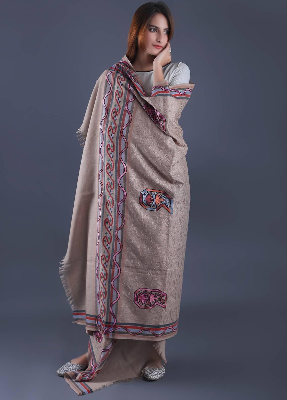 Sanaulla Exclusive Range Textured Pashmina  Shawl 29 - Formal Collection