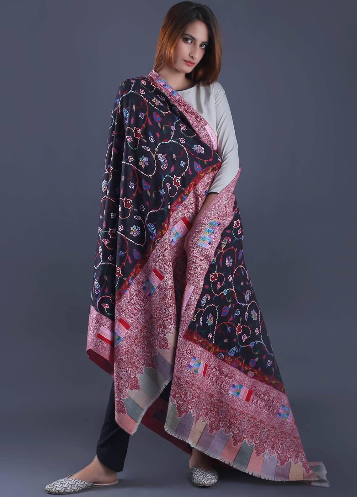 Sanaulla Exclusive Range Textured Pashmina  Shawl 30 - Formal Collection
