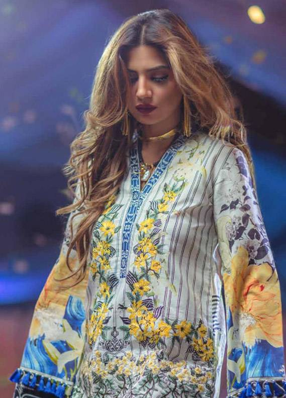 Rungrez Embroidered Lawn Unstitched 3 Piece Suit RNG17E 04