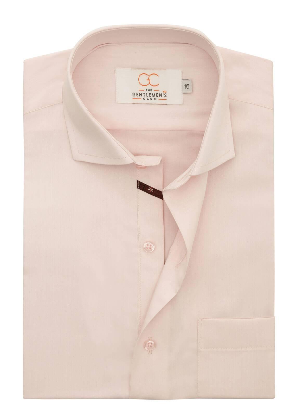 The Gentlemen's Club Cotton Formal Men Shirts - Pink White Label 4067 - 18.5