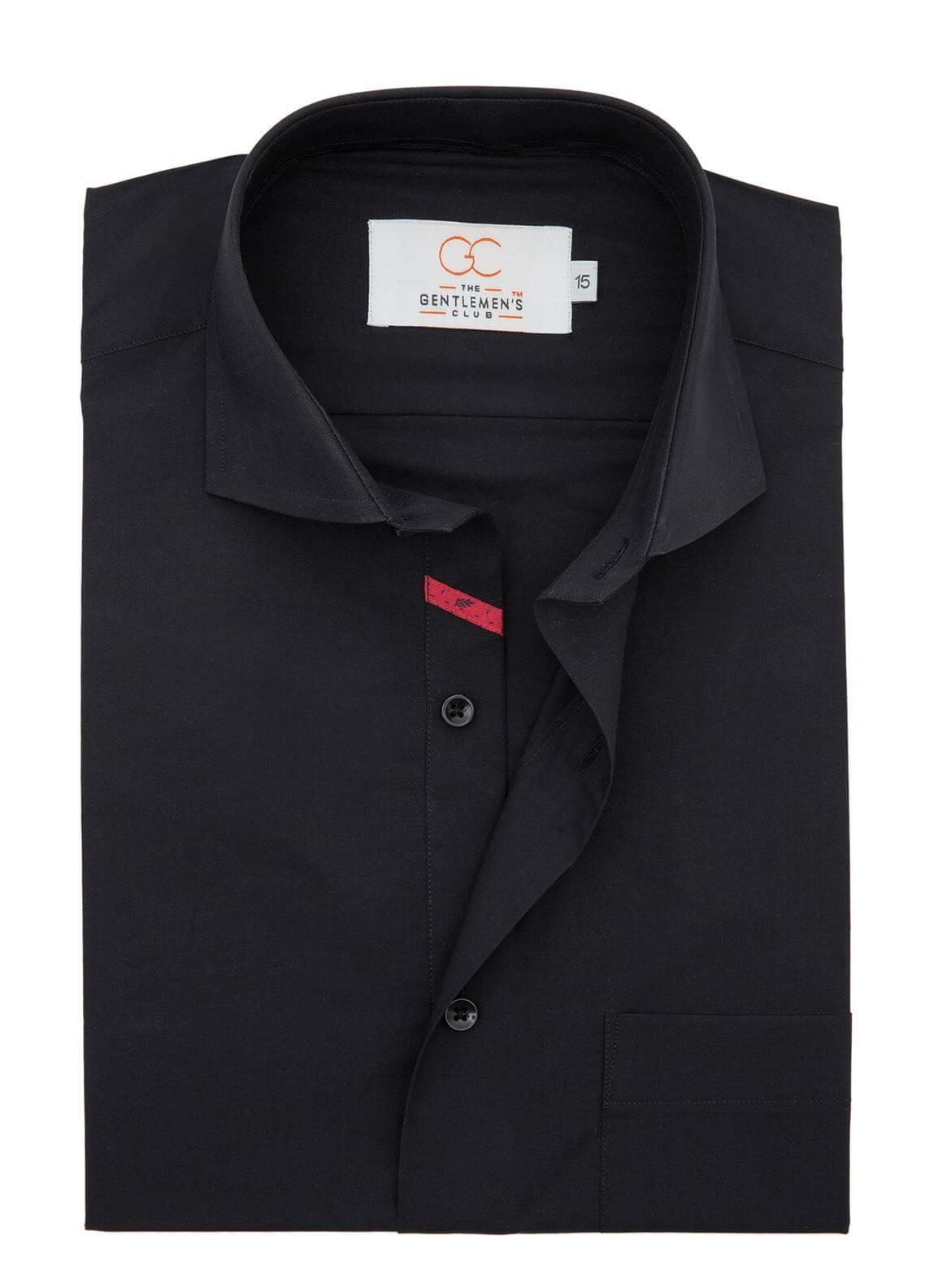 The Gentlemen's Club Cotton Formal Shirts for Men - Black White Label 4070 - 18.5