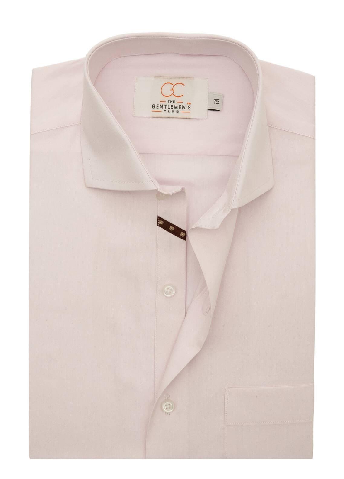 The Gentlemen's Club Cotton Formal Shirts for Men - Light Purple White Label 4072 - 18.5