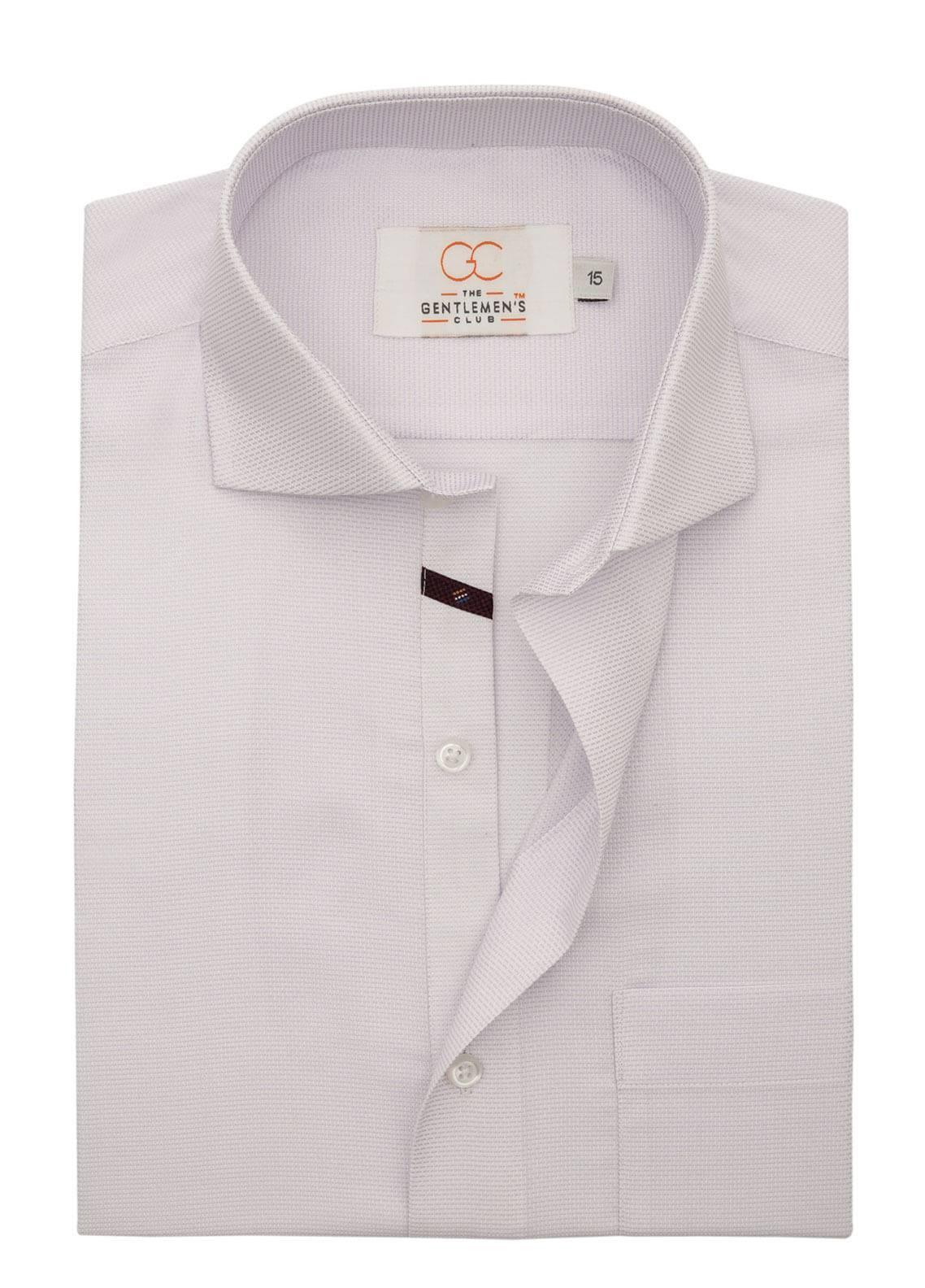 The Gentlemen's Club Cotton Formal Shirts for Men - Light Purple White Label 4078 - 18.5
