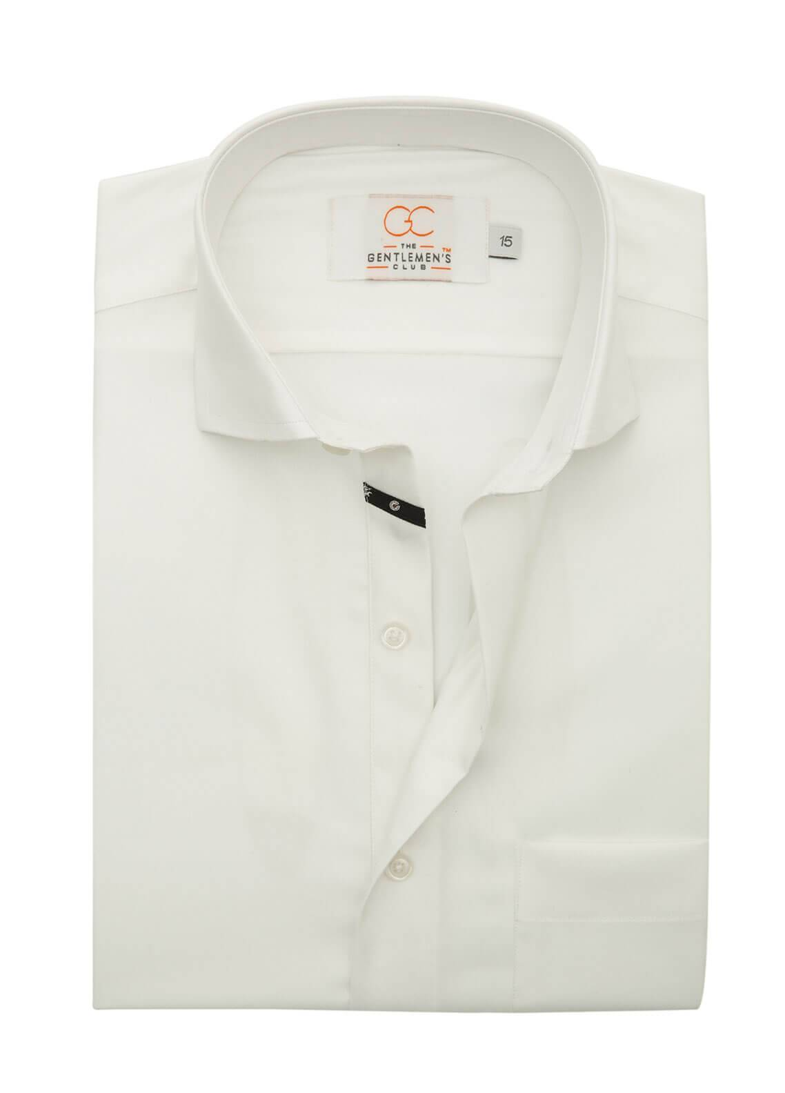 The Gentlemen's Club Cotton Formal Shirts for Men - White White Label 4089 - 18.5