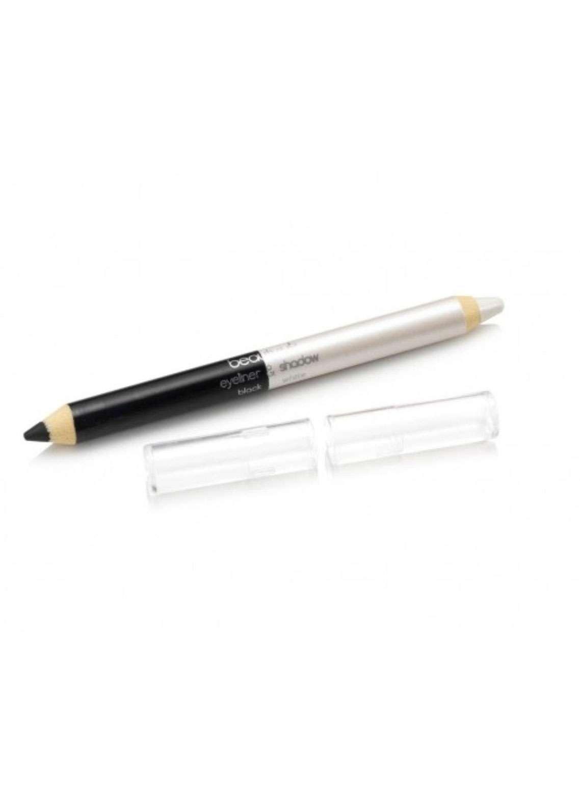 Beauty UK Jumbo Eye Liner & Eye Shadow Pencil - Black & White