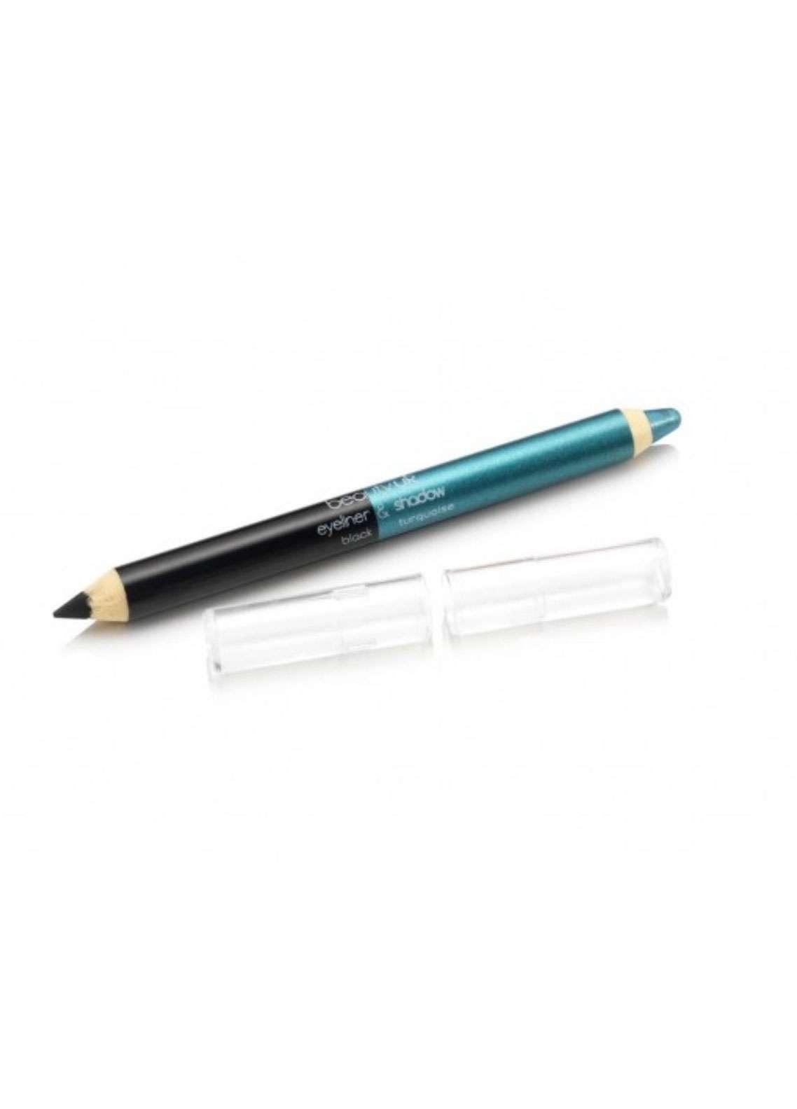 Beauty UK Jumbo Eye Liner & Eye Shadow Pencil - Black & Turquoise