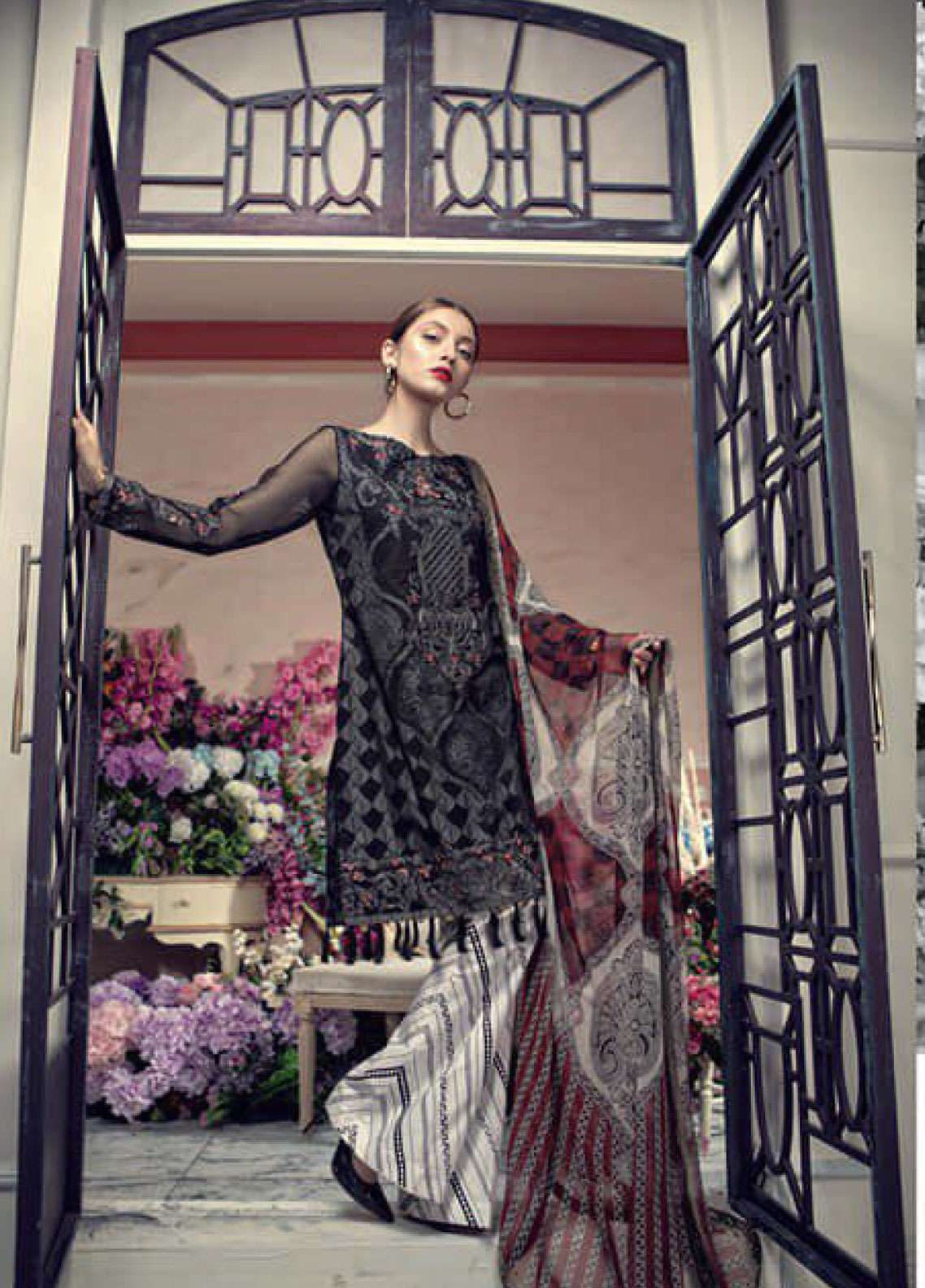 Aayra Embroidered Lawn Unstitched 3 Piece Suit AY19L 02B - Spring / Summer Collection