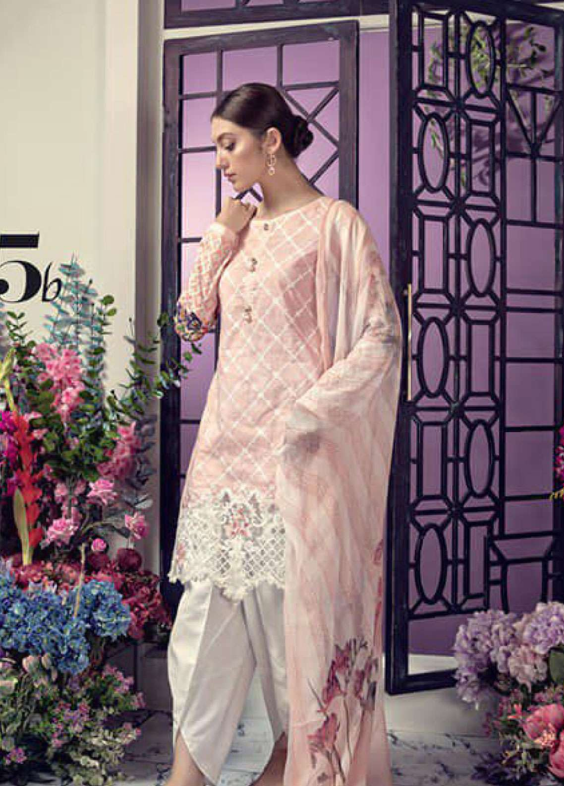 Aayra Embroidered Lawn Unstitched 3 Piece Suit AY19L 05B - Spring / Summer Collection
