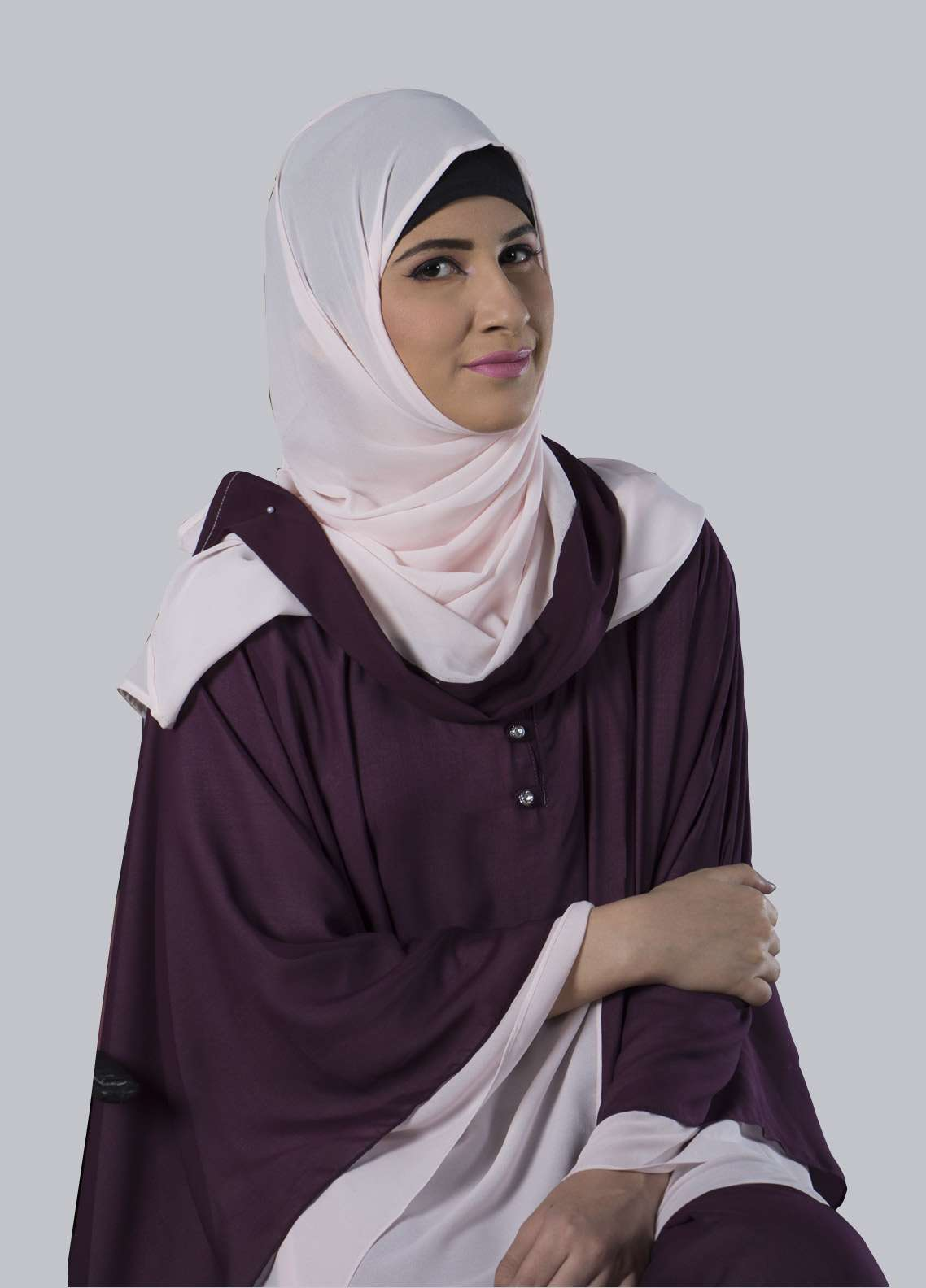 Purple Jeans Umbrella Style Abaya for Ladies - ABY18 002