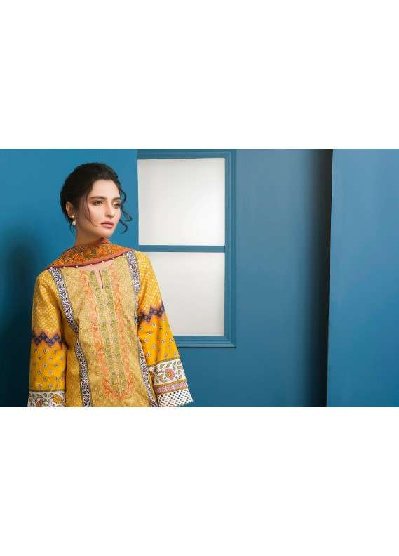 Arisha Chowdary BY ZS Embroidered Lawn Unstitched 3 Piece Suit AC18L 04 - Spring / Summer Collection