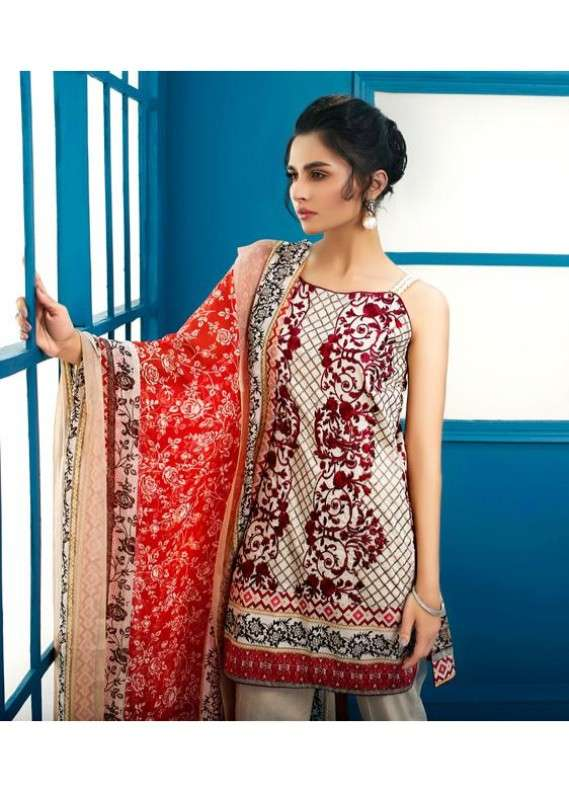 Arisha Chowdary BY ZS Embroidered Lawn Unstitched 3 Piece Suit AC18L 05 - Spring / Summer Collection