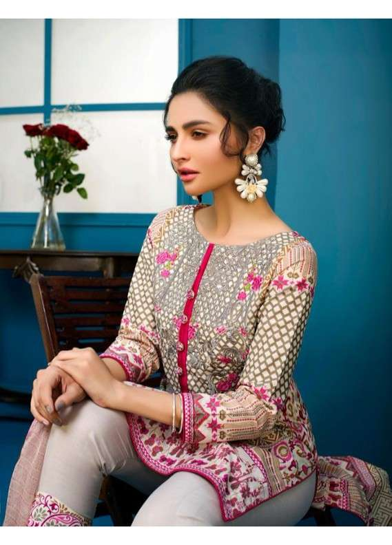 Arisha Chowdary BY ZS Embroidered Lawn Unstitched 3 Piece Suit AC18L 06 - Spring / Summer Collection