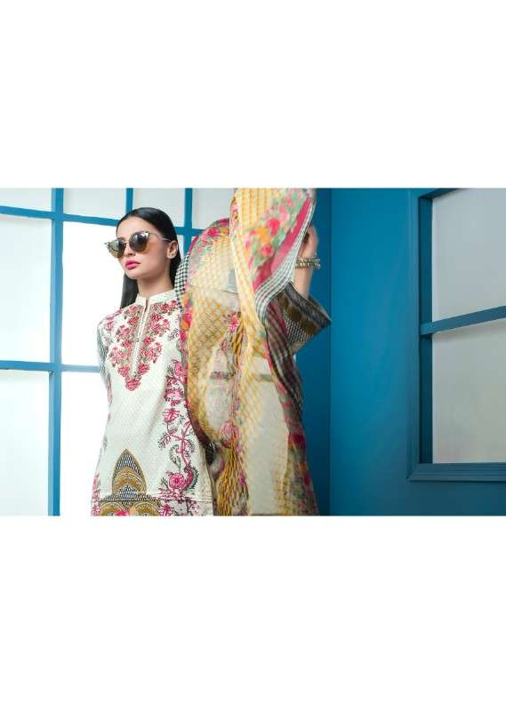 Arisha Chowdary BY ZS Embroidered Lawn Unstitched 3 Piece Suit AC18L 09 - Spring / Summer Collection