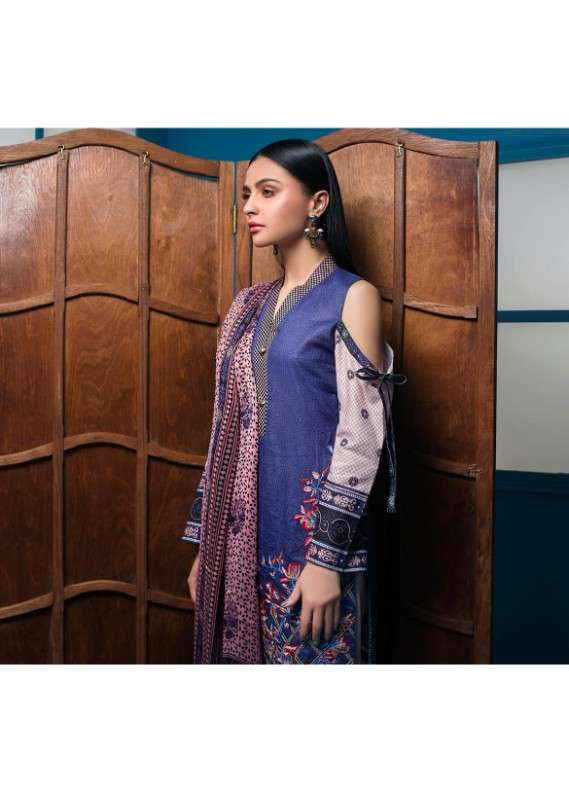 Arisha Chowdary BY ZS Embroidered Lawn Unstitched 3 Piece Suit AC18L 10 - Spring / Summer Collection