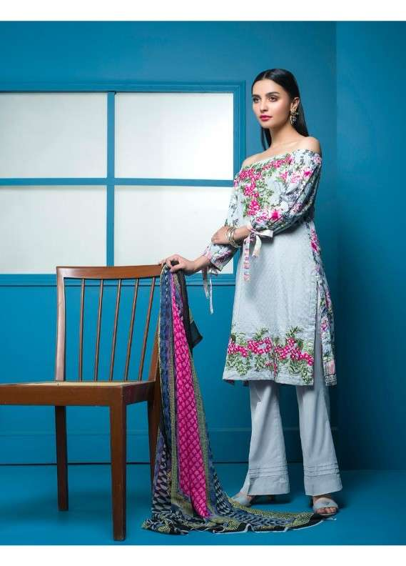 Arisha Chowdary BY ZS Embroidered Lawn Unstitched 3 Piece Suit AC18L 11 - Spring / Summer Collection