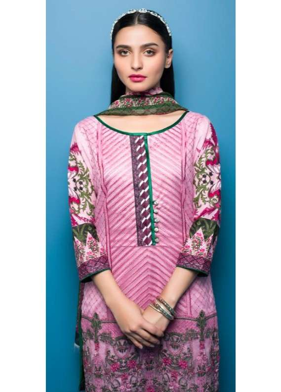 Arisha Chowdary BY ZS Embroidered Lawn Unstitched 3 Piece Suit AC18L 13 - Spring / Summer Collection
