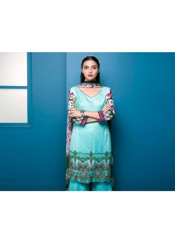 Arisha Chowdary BY ZS Embroidered Lawn Unstitched 3 Piece Suit AC18L 14 - Spring / Summer Collection
