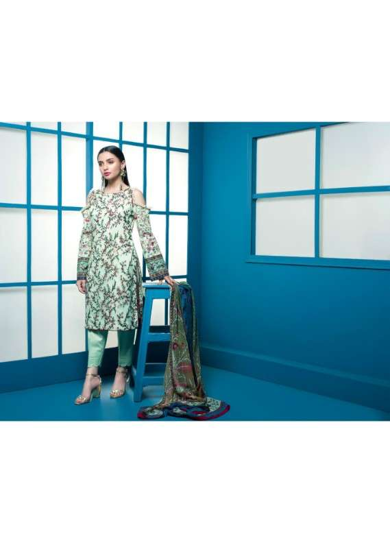 Arisha Chowdary BY ZS Embroidered Lawn Unstitched 3 Piece Suit AC18L 15 - Spring / Summer Collection