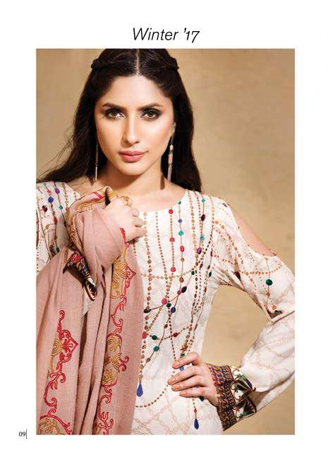 Adamjee Embroidered Linen Unstitched 3 Piece Suit AD17W 04