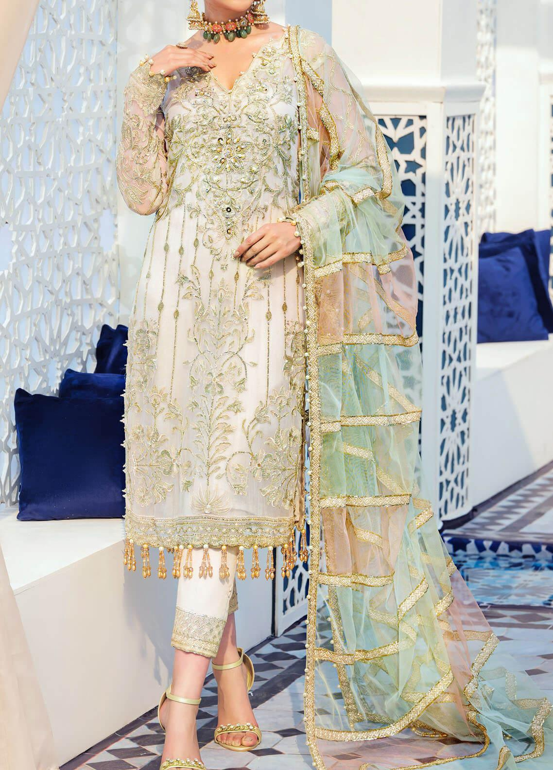 Adila by Gulaal Embroidered Chiffon Unstitched 3 Piece Suit GL20A D-3 NORA - Luxury Formal Collection