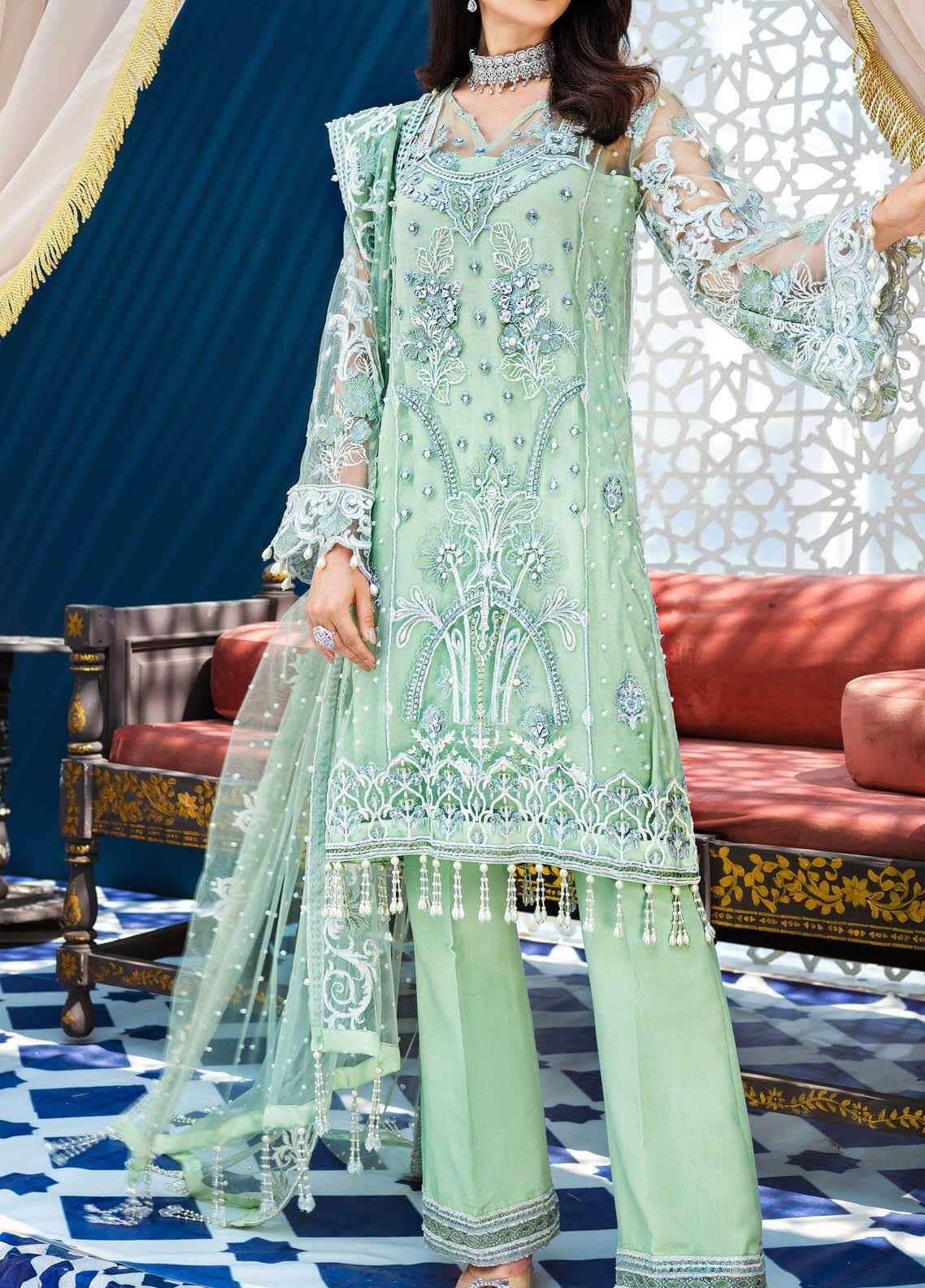 Adila by Gulaal Embroidered Net Unstitched 3 Piece Suit GL20A D-5 ANISAH - Luxury Formal Collection