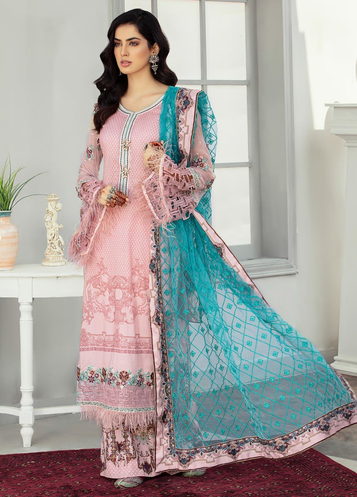 Afroze by Celina Embroidered Lawn Unstitched 3 Piece Suit C20AL 2 - Summer Collection