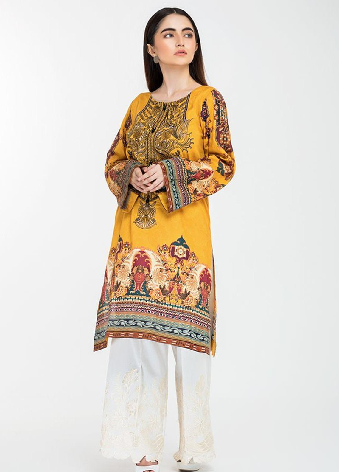 Afrozeh Embroidered Lawn Stitched Kurtis 06 Mystic Illusion