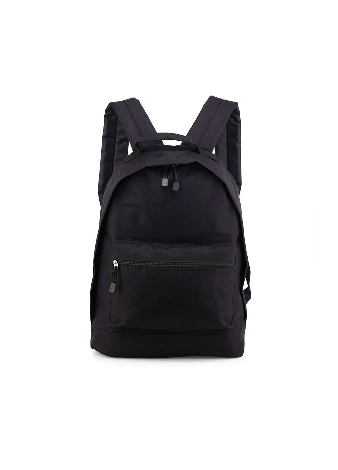 Anna Grace London Faux Leather Backpack School Bags  for Unisex  Black with Plain Texture