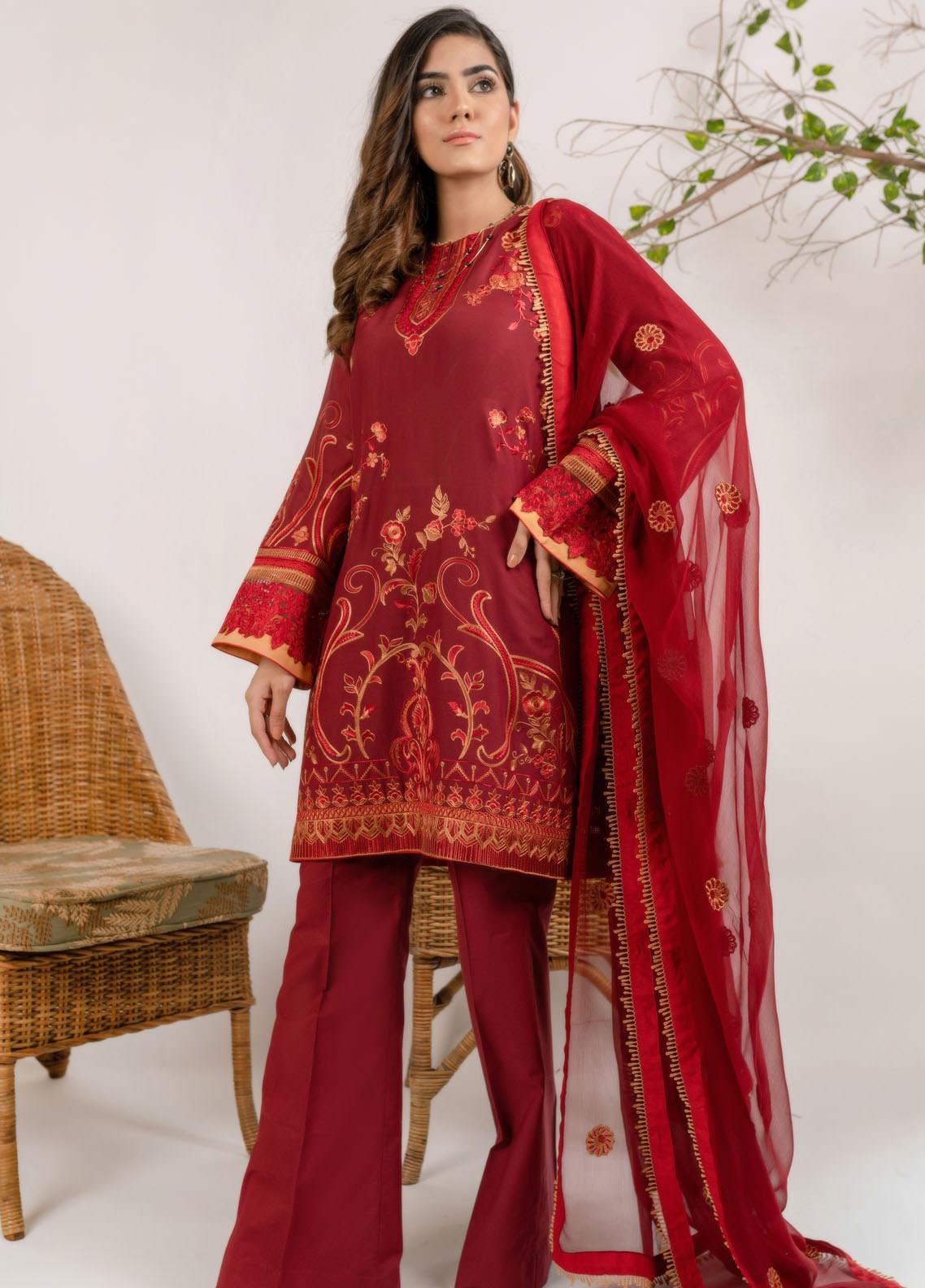 AIK Atelier Embroidered Lawn Unstitched 3 Piece Suit AIK20E-3 LOOK-05 - Spring / Summer Collection