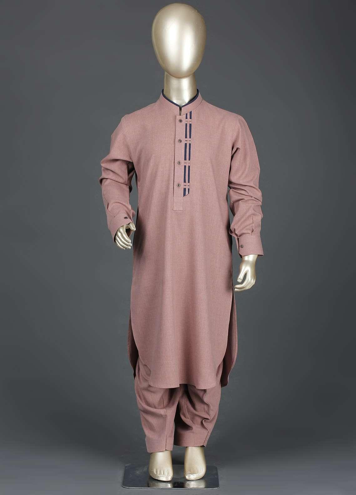 Aizaz Zafar Wash N Wear Formal Kameez Shalwar for Boys -  AZ19B 224 Khaki