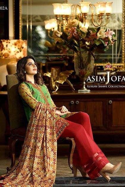 Asim Jofa Embroidered Linen Unstitched 3 Piece Suit AJ16W 2A