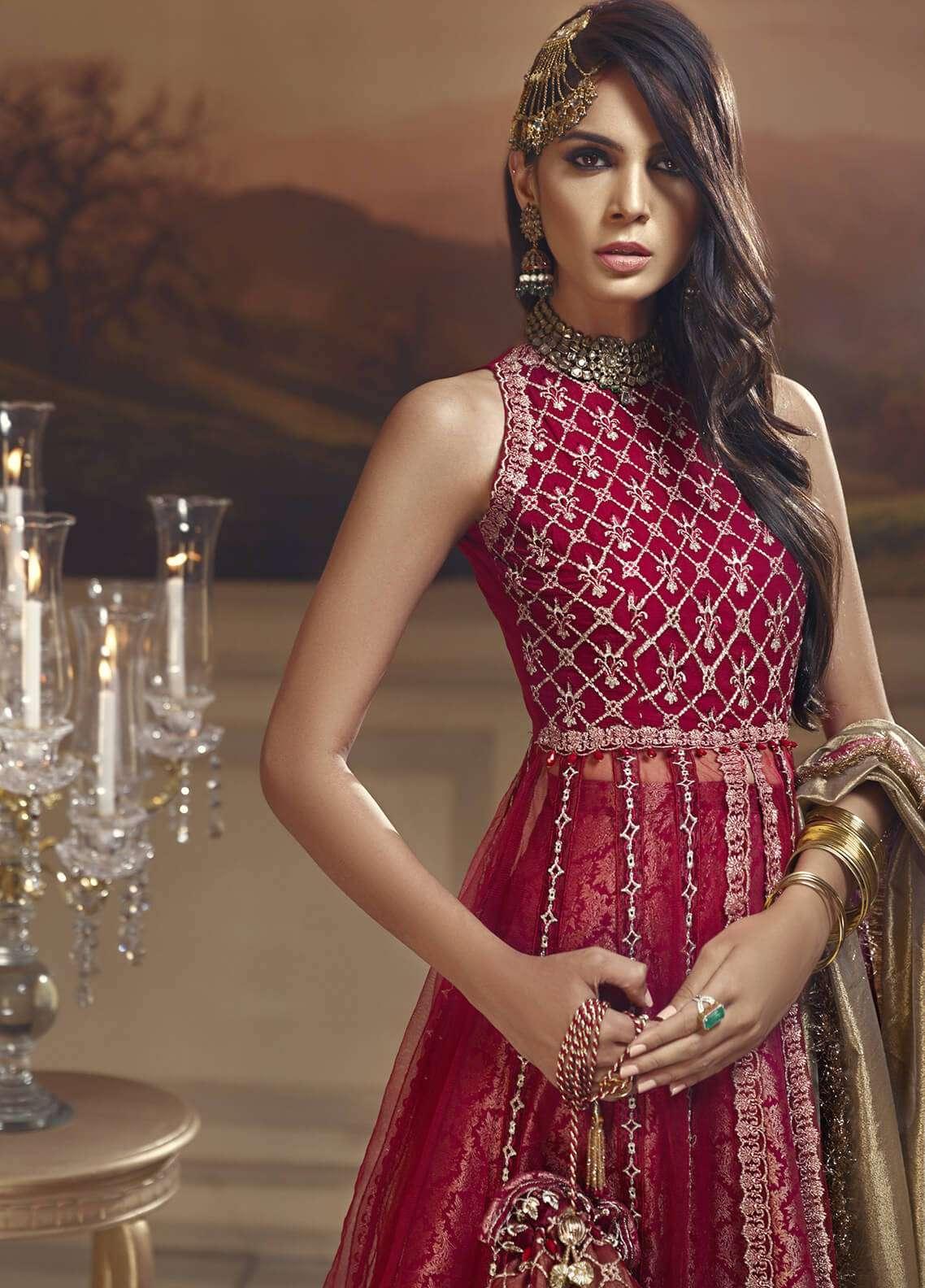 Anaya by Kiran Chaudhry Embroidered Chiffon Unstitched 3 Piece Suit AKC18W 02 - Wedding Edition