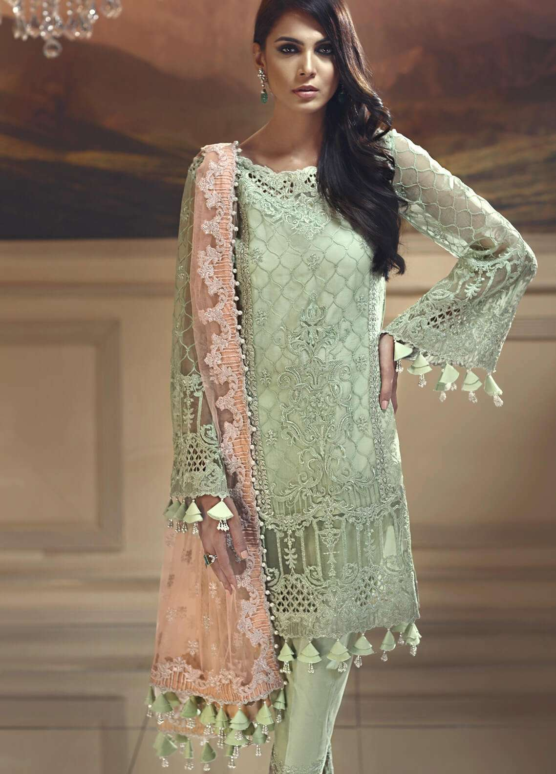 562217bd0d Anaya by Kiran Chaudhry Embroidered Organza Unstitched 3 Piece Suit AKC18W  05 - Wedding Edition