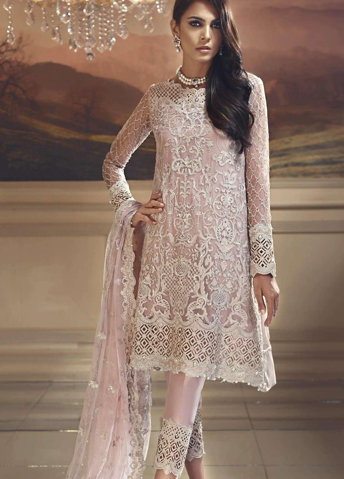 Anaya by Kiran Chaudhry Embroidered Chiffon Unstitched 3 Piece Suit AKC18W 06 - Wedding Edition