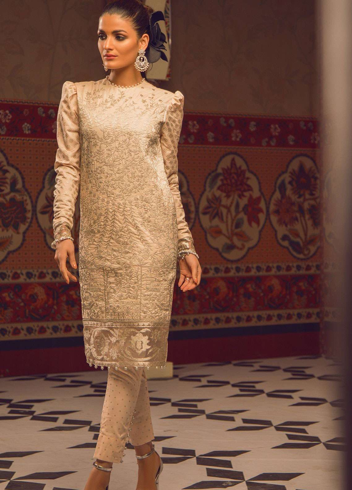 702feb0b71 Al Karam Embroidered Cambric Unstitched 2 Piece Suit AK19F 17I - Festive  Collection