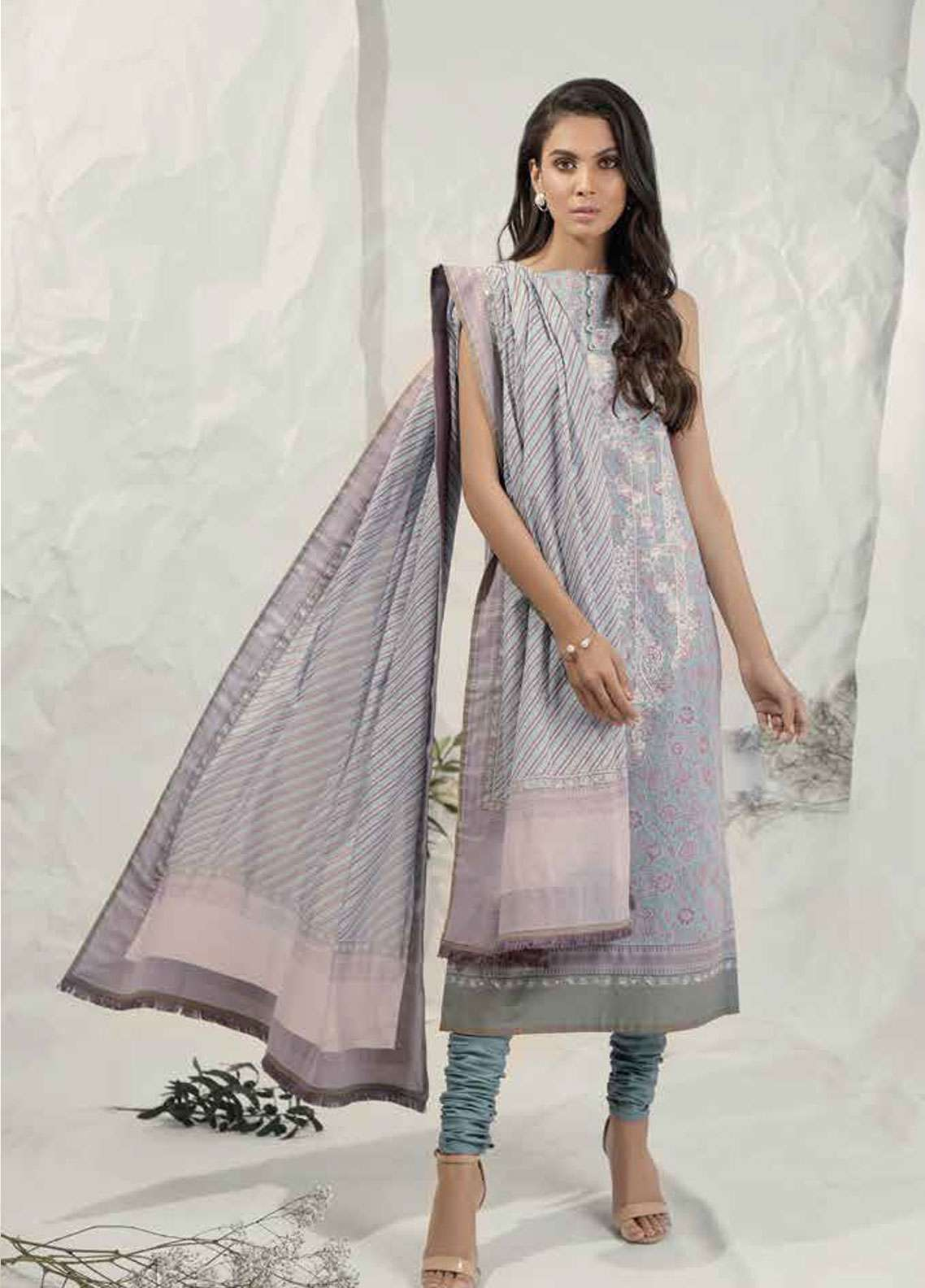 7731203146 Al Karam Embroidered Lawn Unstitched 3 Piece Suit AK19L SS-27.1-19 Purple -  Spring / Summer Collection