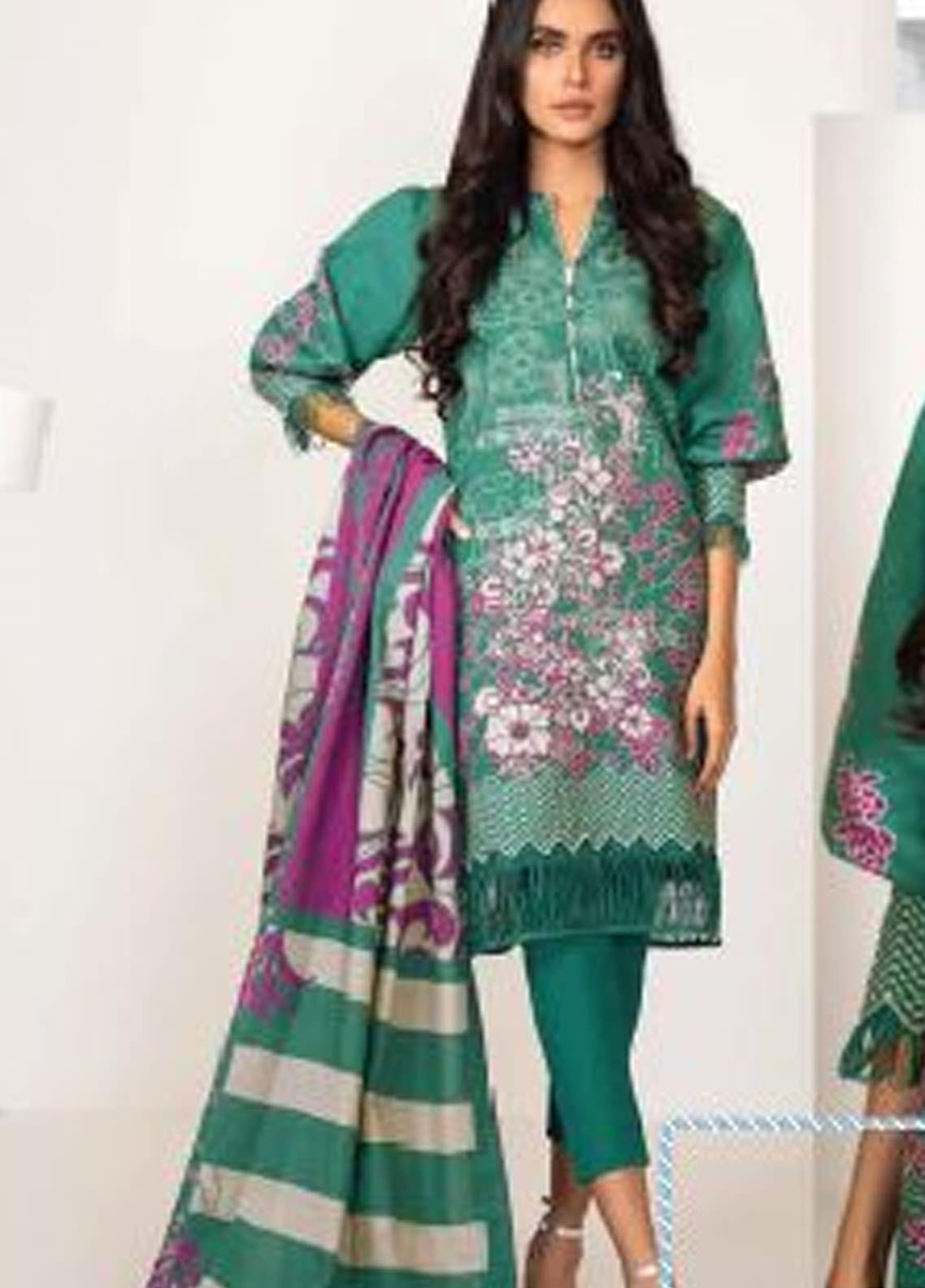 Al Karam Embroidered Khaddar Unstitched 3 Piece Suit AK20W FW-15-20 GREEN - Winter Collection