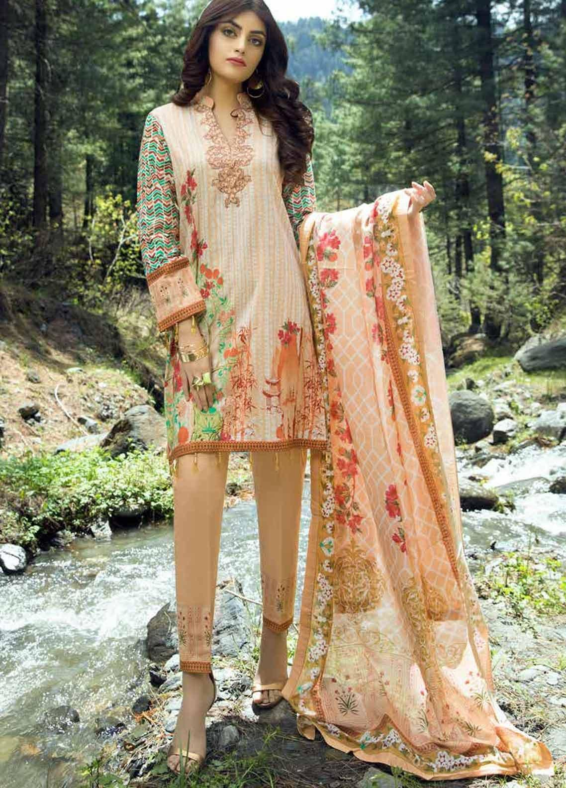 Al Zohaib Printed Lawn Unstitched 3 Piece Suit AZC19PL 11 - Mid Summer Collection