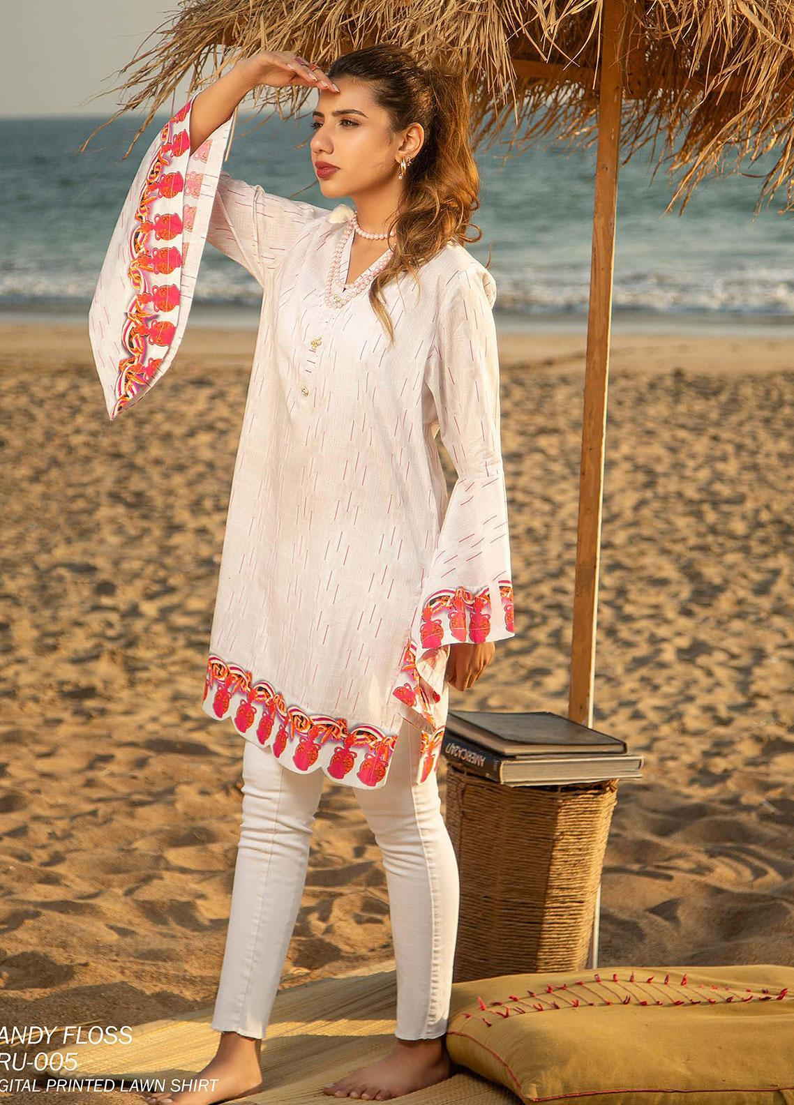 Ala Rasi Printed Lawn Unstitched Kurties AR20L 05 CANDY FLOSS - Summer Collection