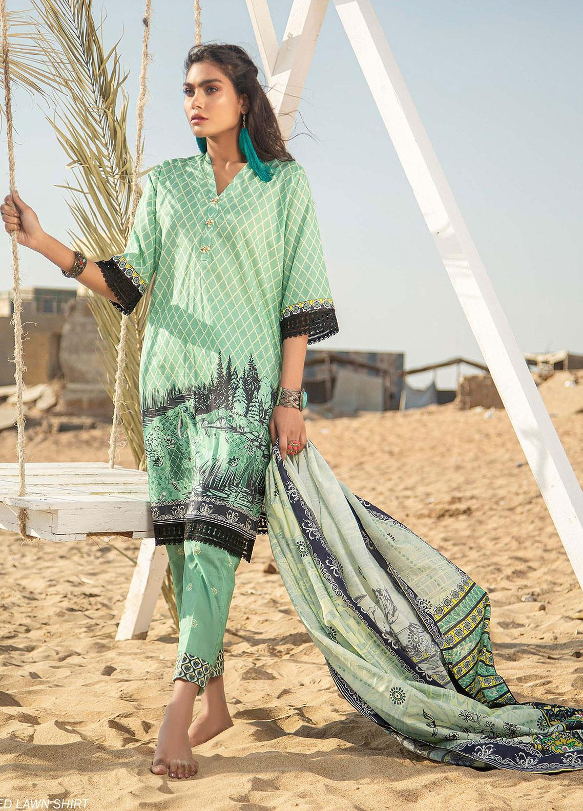 Ala Rasi Printed Lawn Unstitched 3 Piece Suits AR20L 29 SCENIC - Summer Collection