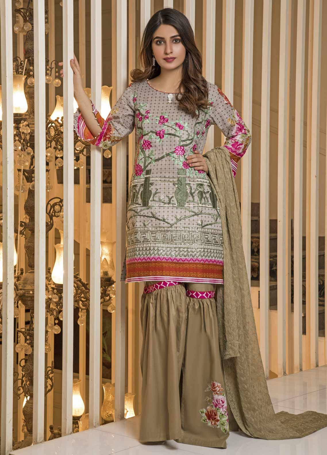 Amani by ZS Textile Embroidered Chikankari Unstitched 3 Piece Suit AZS19C 01A - Mid Summer Collection