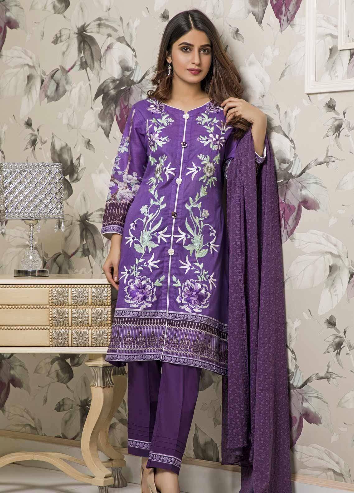 Amani by ZS Textile Embroidered Chikankari Unstitched 3 Piece Suit AZS19C 03A - Mid Summer Collection