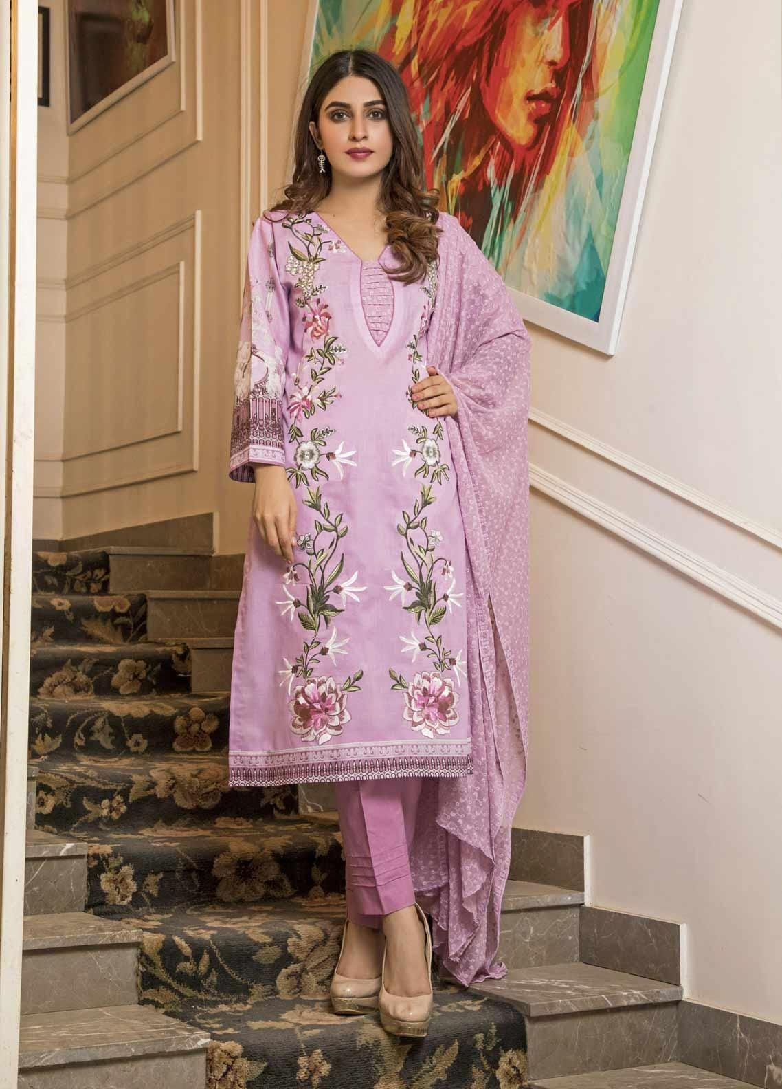 Amani by ZS Textile Embroidered Chikankari Unstitched 3 Piece Suit AZS19C 03B - Mid Summer Collection
