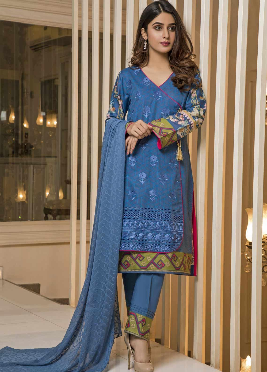 Amani by ZS Textile Embroidered Chikankari Unstitched 3 Piece Suit AZS19C 04B - Mid Summer Collection